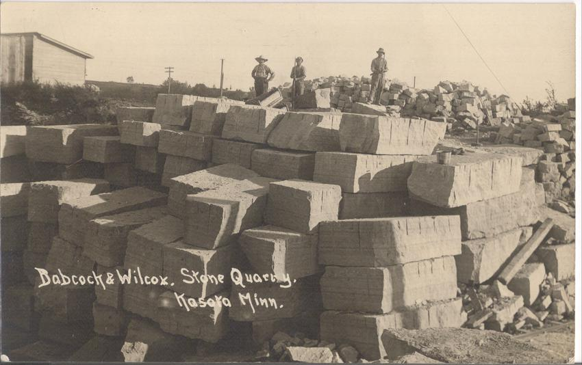 Babcock & Willcox Quarry Blocks and Workers, 1912