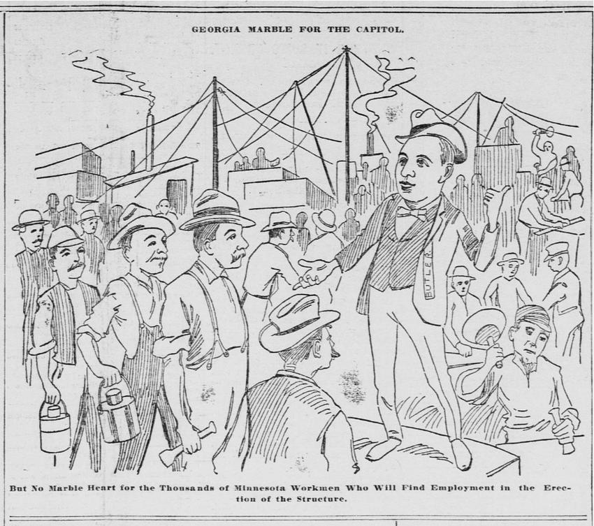 Butler Cartoon from St. Paul Globe 1897