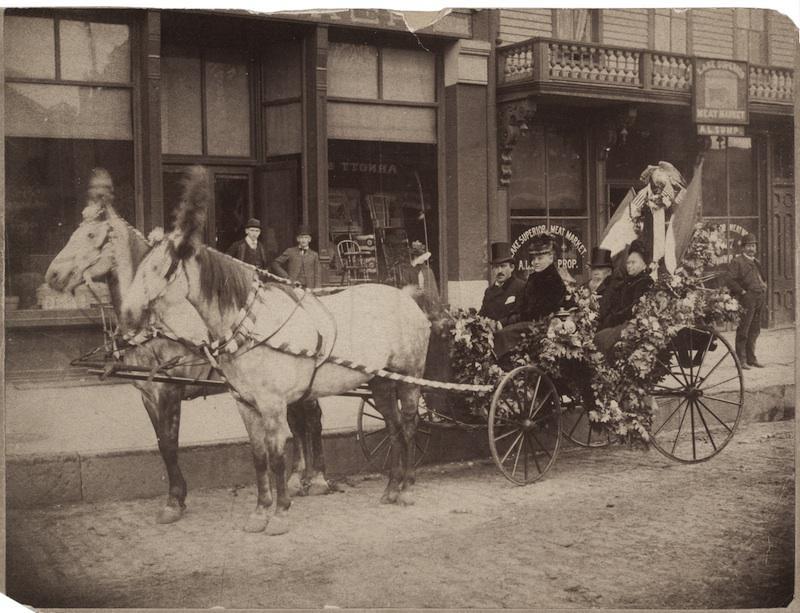 Carriage in German Day Parade, Minneapolis, Minnesota