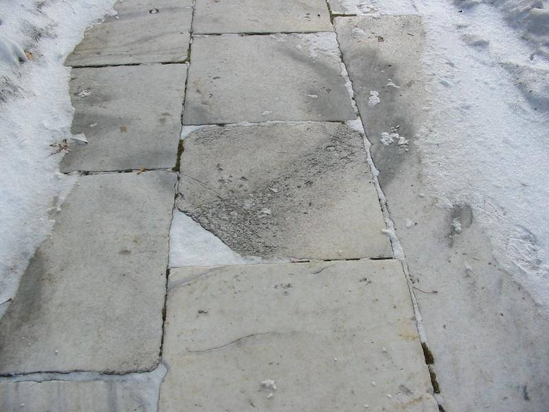 Marble Sidewalk-Saint Paul, MN-Closeup view