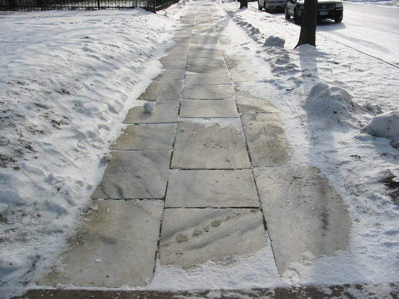 Marble Sidewalk-Saint Paul, MN