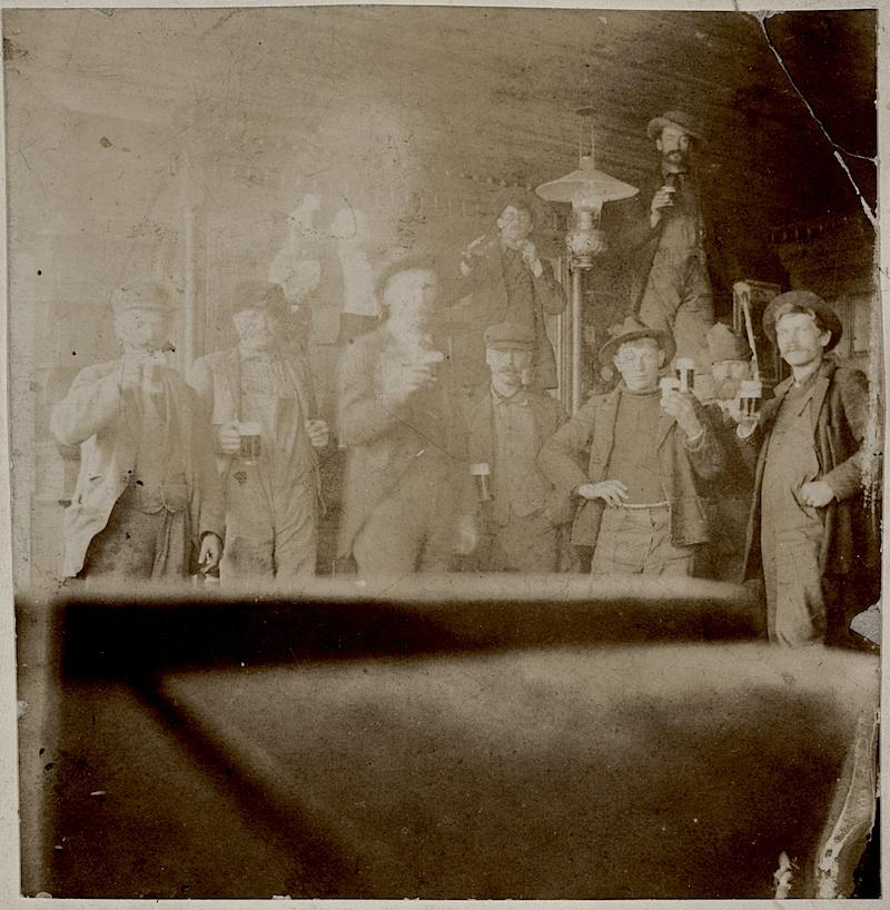 Men posing in a saloon, Saint Paul, Minnesota