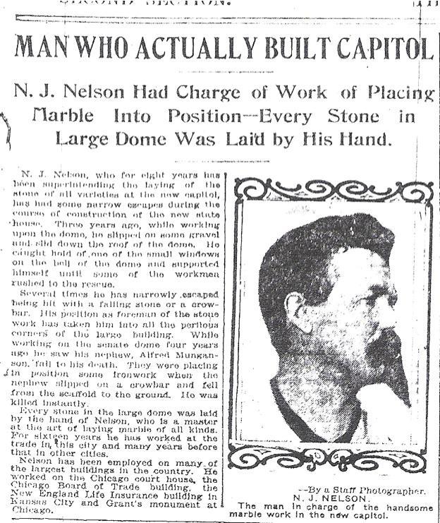 Nels Nelson, Pioneer Press Dec 31, 1904