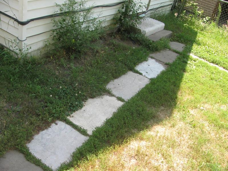 Marble walkway at Nils Nelson's house on Payne Avenue, St. Paul