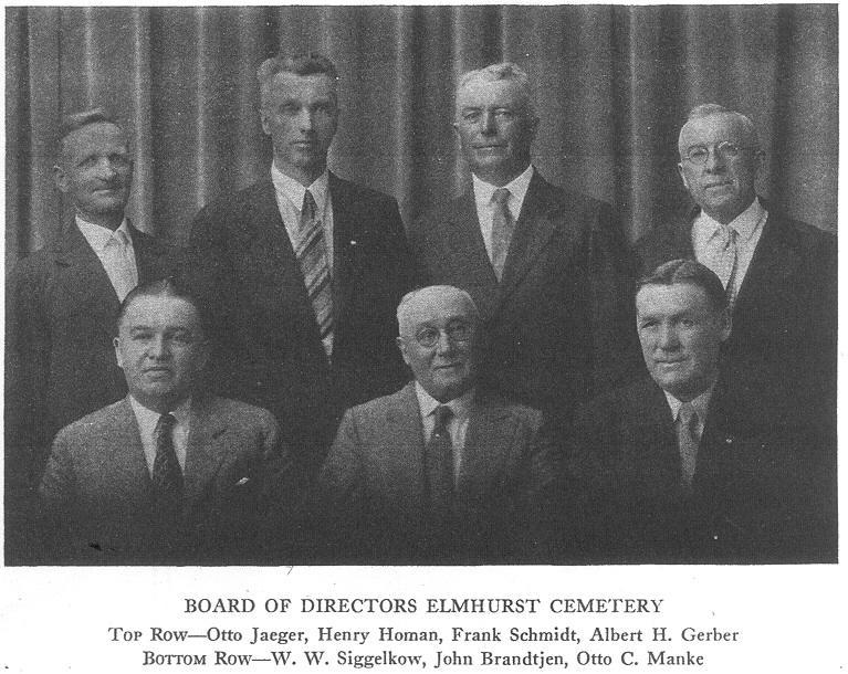Otto Manke & Elmhurst Cemetery Board, 1930