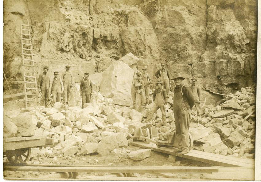 Quarry workers, (pit unidentified), Winona, MN