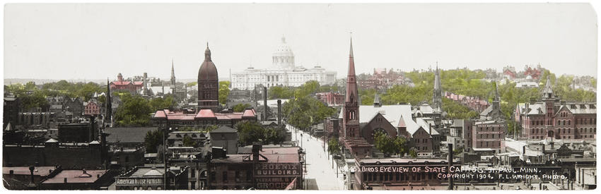 Bird's eye view of State Capitol, 1904