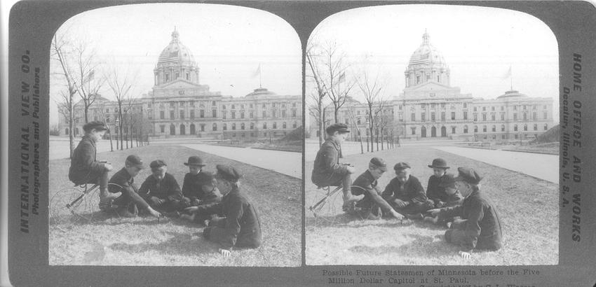 Possible Future Statesmen of Minnesota before the Five Million Dollar Capitol at St. Paul, 1905