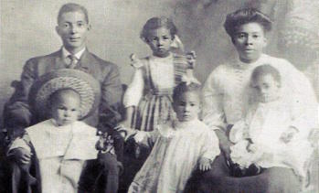 Casiville Bullard and Family, ca 1908