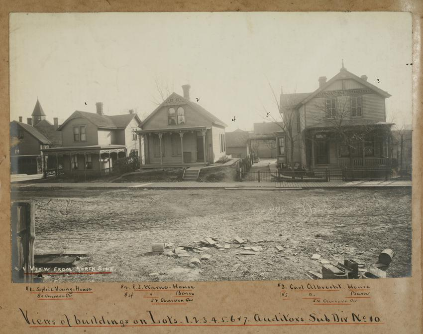 Houses on north side of Capitol construction site