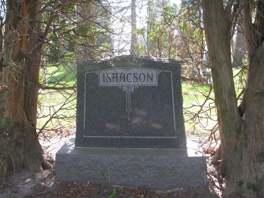 Eric Isaacson's headstone