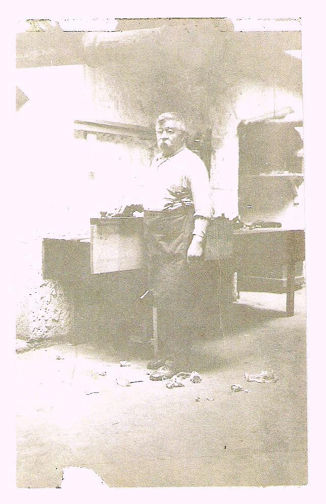 John Rachač in his shop
