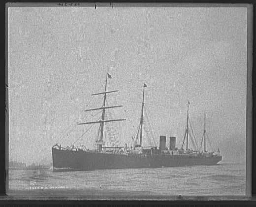 SS Germanic, ship on which August Wedell immigrated to the U.S.A.