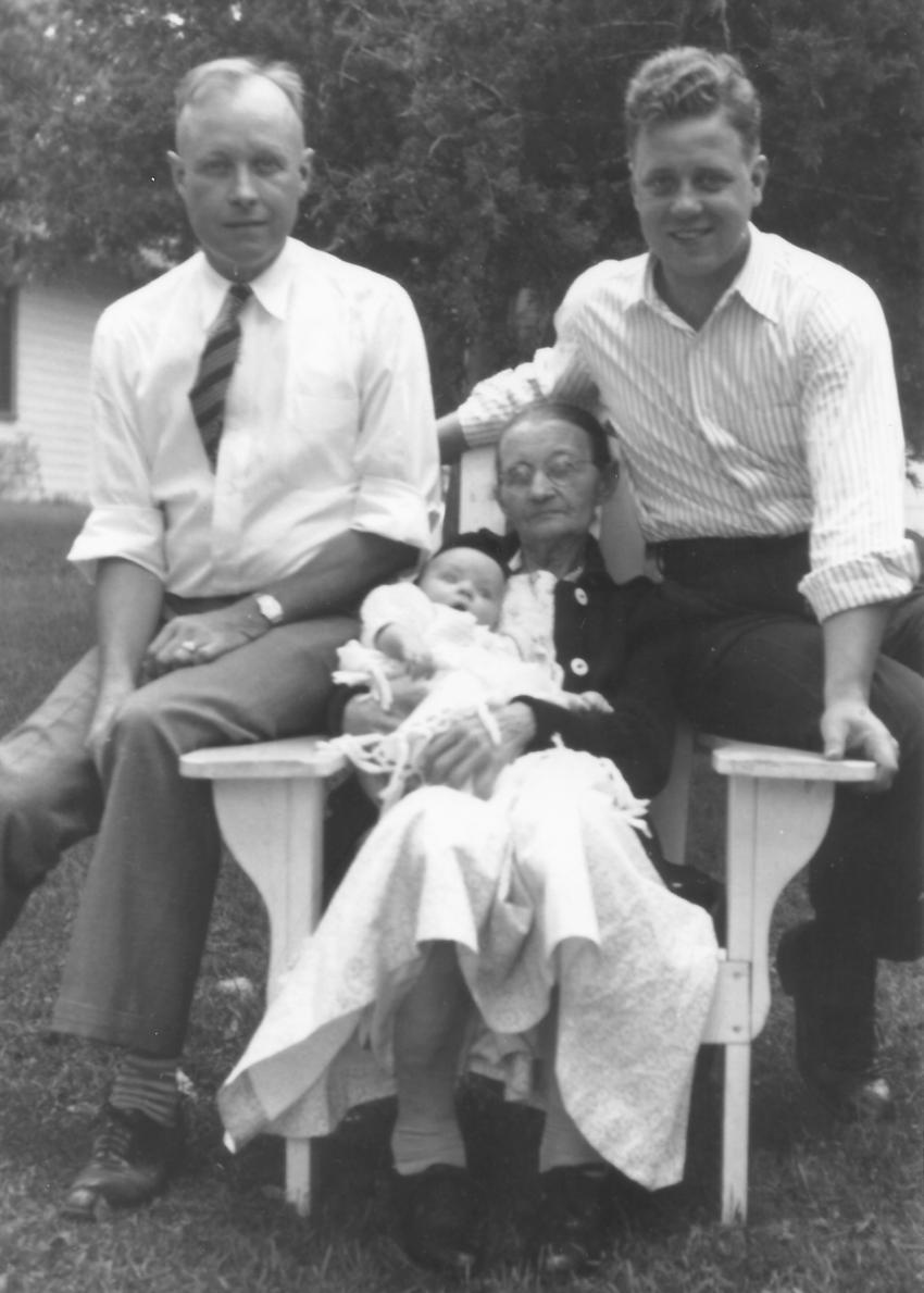 Tilda, Gayle, Joseph and Warren Ostedt, 1939