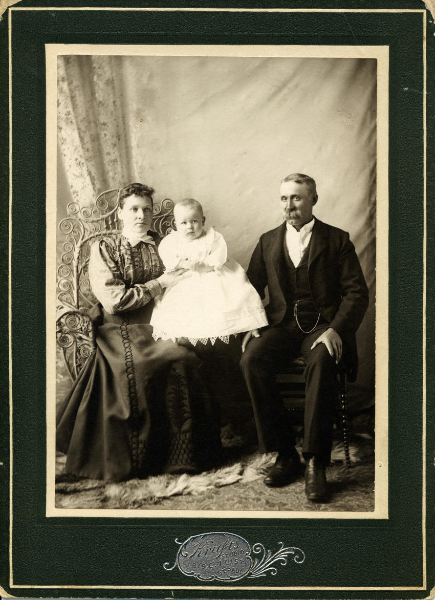 Emma, _Gustave_and August Wedell, circa 1899