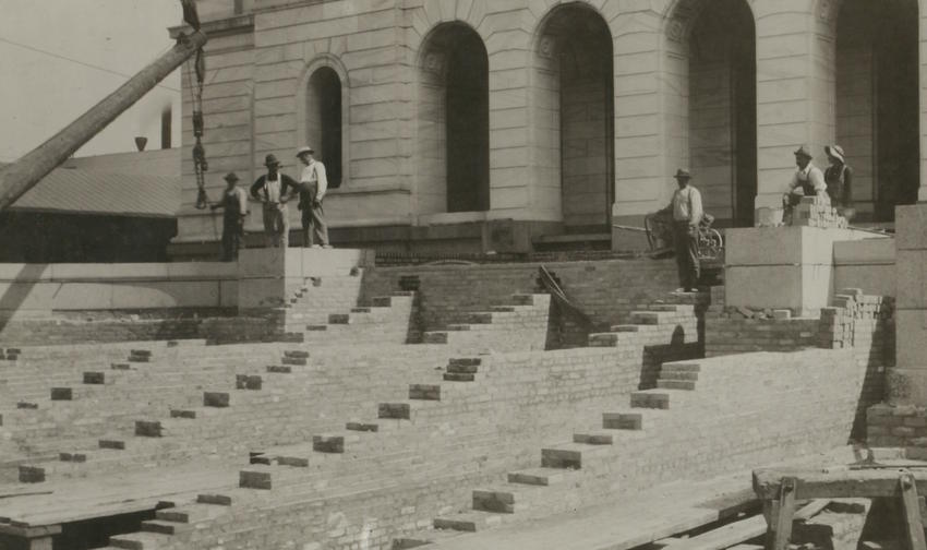 West steps under construction, State Capitol, 1902_8_28