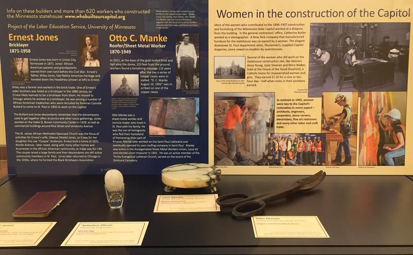 Exhibit of tradeswomen and original builders