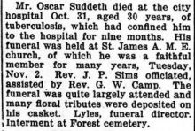 Oscar Suddeth Obituary