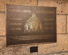 Minnesota Capitol Workers Memorial plaque