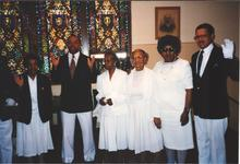 St. James AME Church Usher Board w Ora Lee Anderson, ca 1988