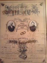 Wedell Marraige Certificate, 1891