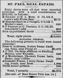 St. Paul Globe, February 1, 1888, page 2-Alexander Fraser purchases a building permit